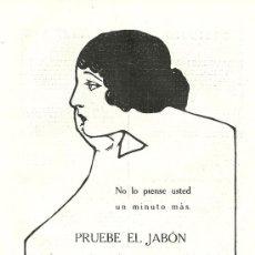 Coleccionismo de Revistas y Periódicos: PUBLICIDAD JABÓN HENO DE PRAVIA - 1919. Lote 17666460