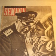 Coleccionismo de Revistas y Periódicos: REVISTA SEMANA AÑO 1942. NÚMERO 142. BENITO MUSSOLINI.. Lote 26553830