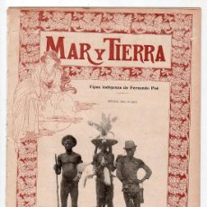 Coleccionismo de Revistas y Periódicos: MAR Y TIERRA Nº 1. 3 DE FEBRERO DE 1900. Lote 17637293
