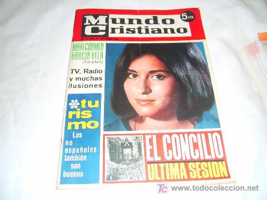 MUNDO CRISTIANO Nº 32: MARI CARMEN GARCIA VELA.MANOLO SANTANA.ROSALIA GARRIDO (Coleccionismo - Revistas y Periódicos Modernos (a partir de 1.940) - Otros)