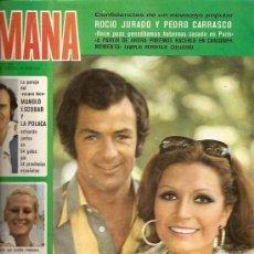 Coleccionismo de Revistas y Periódicos: ROCIO JARADO REVISTA SEMANA AÑO 1975 REPORTAJE DE 2 PAGINAS . Lote 17771235