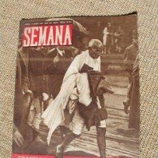 Coleccionismo de Revistas y Periódicos: REVISTA SEMANA , 18 AGOSTO 1942 NÚM 130 AÑO III.. Lote 51774934