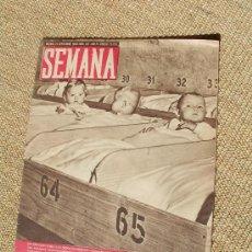 Coleccionismo de Revistas y Periódicos: REVISTA SEMANA , 21 SEPTIEMBRE 1943 NÚM 187 AÑO IV.. Lote 26946533