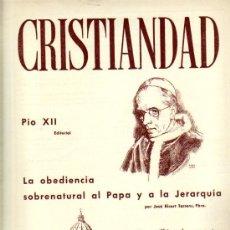 Coleccionismo de Revistas y Periódicos: REVISTA CRISTIANDAD / NÚMERO 289 / 1 ABRIL 1.956. Lote 20272253