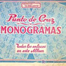 Coleccionismo de Revistas y Periódicos: ALBUM DE PUNTO DE CRUZ. MONOGRAMAS. COLECCIÓN. Lote 17952184