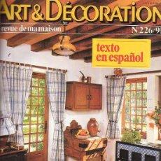 Coleccionismo de Revistas y Periódicos: ART Y DECORATION - LOTE DE 30 EJEMPLARES, EN 6 TOMOS ( REVISTA DE ARTE Y DECORACION ) AÑOS 70 - 80. Lote 18191015