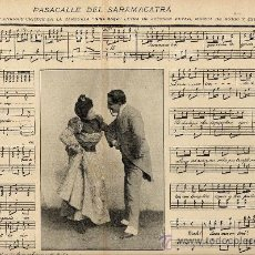 Coleccionismo de Revistas y Periódicos: ZARZUELA 1898 PARTITURA 2 HOJAS REVISTA. Lote 18200133