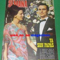 Coleccionismo de Revistas y Periódicos: SEMANA #1477/1968 PRINCESA MARGARITA DINAMARCA~LOS BRAVOS~SARA LEZANA~ELDER BARBER~SONIA BRUNO. Lote 27279321