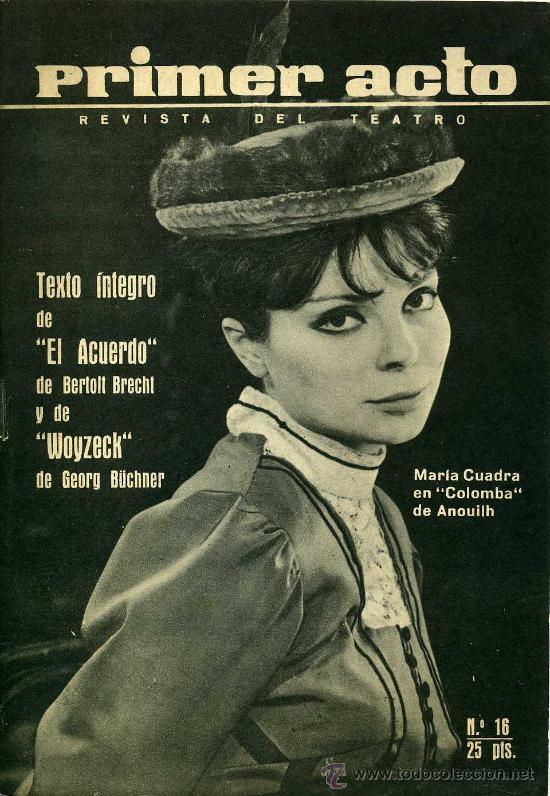 PRIMER ACTO. REVISTA DEL TEATRO. Nº 16. SEPTIEMBRE-OCTUBRE DE 1960 (Coleccionismo - Revistas y Periódicos Modernos (a partir de 1.940))