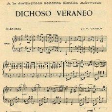 Coleccionismo de Revistas y Periódicos: HABANERA 1911 PARTITURA HOJA REVISTA. Lote 18516660