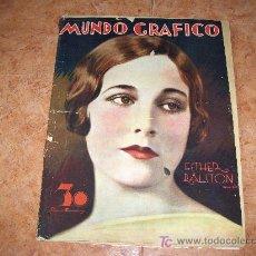 Colecionismo de Revistas e Jornais: MUNDO GRÁFICO REVISTA POPULAR ILUSTRADA, ESTHER RALISTÓN . 28 DE MAYO DE 1930. Lote 23982524