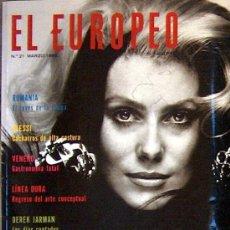 Coleccionismo de Revistas y Periódicos: EL EUROPEO Nº 21 MAR 1990 + ESPECIAL MODA, CATHERINE DENEUVE, ALESSI, RUMANIA, VENENO. Lote 18559261