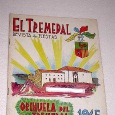 Coleccionismo de Revistas y Periódicos: EL TREMEDAL, REVISTA DE FIESTAS. ORIHUELA DEL TREMEDAL, 1965. ANUNCIOS, FOTOS. TERUEL.. Lote 24308716