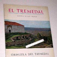 Coleccionismo de Revistas y Periódicos: EL TREMEDAL, REVISTA DE FIESTAS. ORIHUELA DEL TREMEDAL, 1972. ANUNCIOS, FOTOS. TERUEL.. Lote 24308723