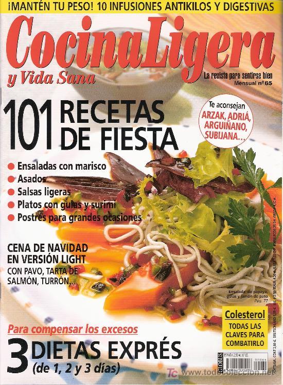 COCINA LIGERA Y VIDA SANA. Nº 65. 2005 (Coleccionismo - Revistas y Periódicos Modernos (a partir de 1.940) - Otros)