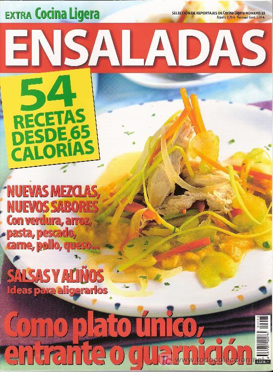EXTRA COCINA LIGERA. ENSALADAS. Nº 23. (Coleccionismo - Revistas y Periódicos Modernos (a partir de 1.940) - Otros)