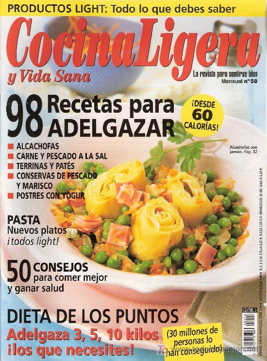 COCINA LIGERA Y VIDA SANA. Nº 58. (Coleccionismo - Revistas y Periódicos Modernos (a partir de 1.940) - Otros)