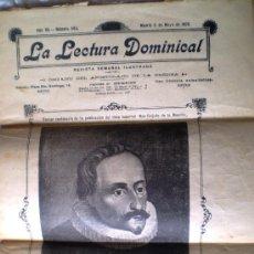 Coleccionismo de Revistas y Periódicos: LA LECTURA DOMINICAL MADRID 6 MAYO 1905 CERVANTES