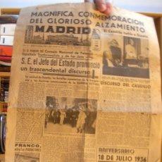Coleccionismo de Revistas y Periódicos: PERIODICO MADRID. 18 DE JULIO DE 1941. Lote 27512223