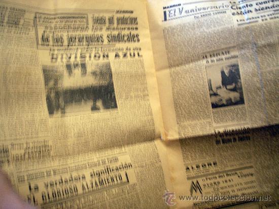 Coleccionismo de Revistas y Periódicos: periodico madrid. 18 de julio de 1941 - Foto 2 - 27512223