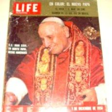Coleccionismo de Revistas y Periódicos: LIFE EN ESPAÑOL 1.958 JUAN XXIII - EL VIEJO Y EL MAR - AUTOS AMERICANOS DEL 59. Lote 26340879