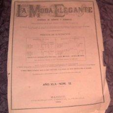 Coleccionismo de Revistas y Periódicos: ANTIGUA REVISTA ~LA MODA ELEGANTE ~ 1883 . Lote 26267433