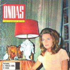 Coleccionismo de Revistas y Periódicos: ONDAS : 1968 Nº 381 , REPORTAJE A EL CORDOBES , REPORTAJE JULIO IGLESIAS. Lote 24806083