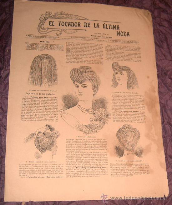 Antigua Revista El Tocador de la Última Moda siglo XIX segunda mano