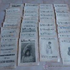 Coleccionismo de Revistas y Periódicos: ESPECTACULAR LOTE DE 40 REVISTAS CATALANAS, LO TEATRO REGIONAL. DE 1899 A 1901. EN CATALÀ!. Lote 27142465