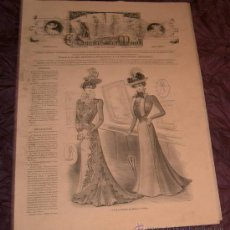Coleccionismo de Revistas y Periódicos: ANTIGUA REVISTA EL SALÓN DE LA MODA ~ Nº405 3 JULIO 1899 ~INCLUYE LITOGRAFÍA. Lote 25277506