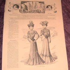 Coleccionismo de Revistas y Periódicos: ANTIGUA REVISTA EL SALÓN DE LA MODA ~ Nº408 14 AGOSTO 1899 ~INCLUYE LITOGRAFÍA. Lote 26064722