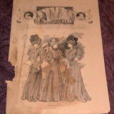 Coleccionismo de Revistas y Periódicos: ANTIGUA REVISTA EL SALÓN DE LA MODA ~ Nº591 20 AGOSTO 1906 ~INCLUYE LITOGRAFÍA. Lote 26477338