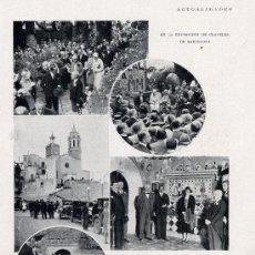 Coleccionismo de Revistas y Periódicos: SITGES 1930 VISITA REY HOJA REVISTA. Lote 19281906