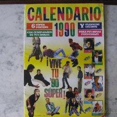 Coleccionismo de Revistas y Periódicos: CALENDARIO SUPER POP 1990 SEIS POSTER:TOM CRUISE,ROB LOWE,BROS,RIVER PHOENIX,KIRK CAMERON,DONOVAN.. Lote 24004023