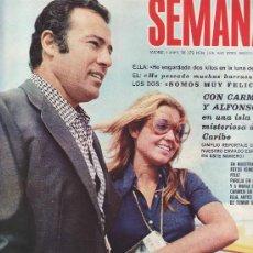 Coleccionismo de Revistas y Periódicos: SEMANA. Nº 1676. ABRIL 1972. CARMEN Y ALFONSO DE BORBON.MAS COLECCIONISMO EN RASTRILLOPORTOBELLO. Lote 26593613