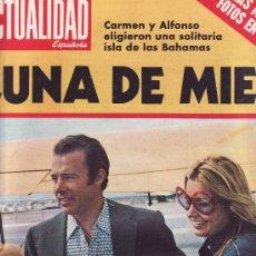 Coleccionismo de Revistas y Periódicos: ACTUALIDAD ESPAÑOLA.Nº 1056 AÑO 1972 CARMEN Y ALFONSO DE BORBON-COLECCIONISMO EN RASTRILLOPORTOBELLO. Lote 26693413