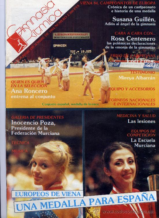 GIMNASIA RÍTMICA Nº 2. 1984 SUSANA GUILLÉN ADIOS A LA GIMNASIA (Coleccionismo - Revistas y Periódicos Modernos (a partir de 1.940))