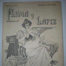 Coleccionismo de Revistas y Periódicos: PLUMA Y LAPIZ. Lote 24879086