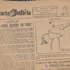 Coleccionismo de Revistas y Periódicos: GRACIA Y JUSTICIA Nº 37. MADRID 14 MAYO 1932.. Lote 19484691