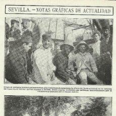 Coleccionismo de Revistas y Periódicos: LA ACTUALIDAD 2 NOVIEMBRE 1909 LLEGADA HERIDOS A JEREZ SEVILLA . Lote 19543524