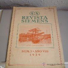 Coleccionismo de Revistas y Periódicos: ANTIGUA REVISTA SIEMENS 1929. Lote 19678054