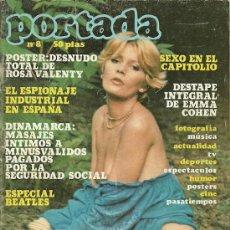 Coleccionismo de Revistas y Periódicos: REVISTA PORTADA Nº 8 15 DE ENERO DE 1977 ANA BELEN 2 PAGINAS, EMMA COHEN 2 PAGINAS.... Lote 19716889