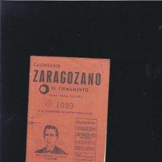 Coleccionismo de Revistas y Periódicos: CALENDARIO ZARAGOZANO 1993. Lote 19742244
