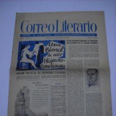 Coleccionismo de Revistas y Periódicos: CORREO LITERARIO . AÑO 1 Nº 11 1 NOV. 1950 . CELA , GERARDO DIEGO , ARANGUREN....35X50 12 PP. .. Lote 25788415
