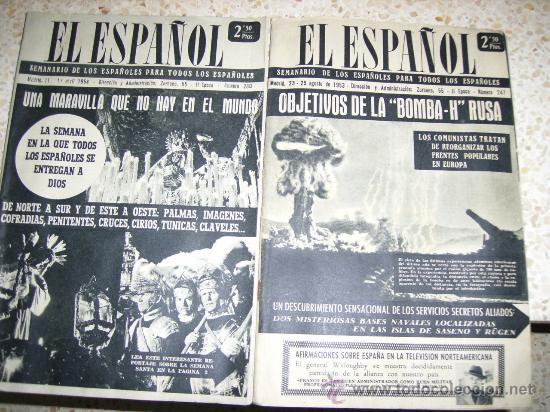 SEMANARIO EL ESPAÑOL (Coleccionismo - Revistas y Periódicos Modernos (a partir de 1.940) - Otros)