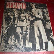 Coleccionismo de Revistas y Periódicos: REVISTA SEMANA - 5 NOVIEMBRE1940 -GRÁFICO Y RESUMEN DE LA GUERRA EN EL MEDITERRANEO ORIENTAL....... Lote 20105612