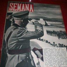 Coleccionismo de Revistas y Periódicos: REVISTA SEMANA - 15 OCTUBRE1940 -HISTORIA Y REALIDAD DE LA TEORIA POLITICA DE LOS MERIDIANOS, ....... Lote 20105716