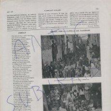 Coleccionismo de Revistas y Periódicos: ILUSTRACIO CATALANA.14-05-1916.INAUGURACIO A GELIDA.FOTOS ANTIGUES.INSTITUT D'ESTUDIS CATALANA.. Lote 20216245