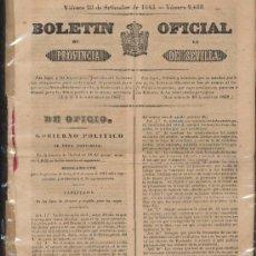 Coleccionismo de Revistas y Periódicos: BOLETÍN OFICIAL DE LA PROVINCIA DE SEVILLA. VIERNES 26 DE SETIEMBRE DE 1845.. Lote 20453050