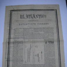 Coleccionismo de Revistas y Periódicos: PERIÓDICO EL ATLANTICO SANTANDER 4 OCT. 1893 . EXPLOSIÓN VAPOR CABO MACHICHACO. CATÁSTROFE INMENSA.. Lote 26621025